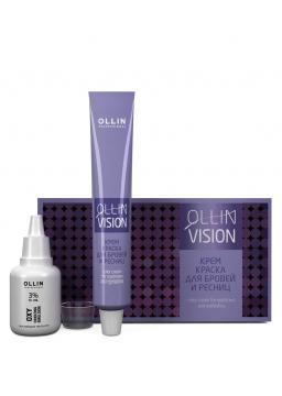 Фарба для брів і вій Ollin Vision set кольоровий крем для брів і вій